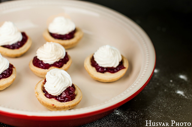 Mini cranberry spice meringue pies