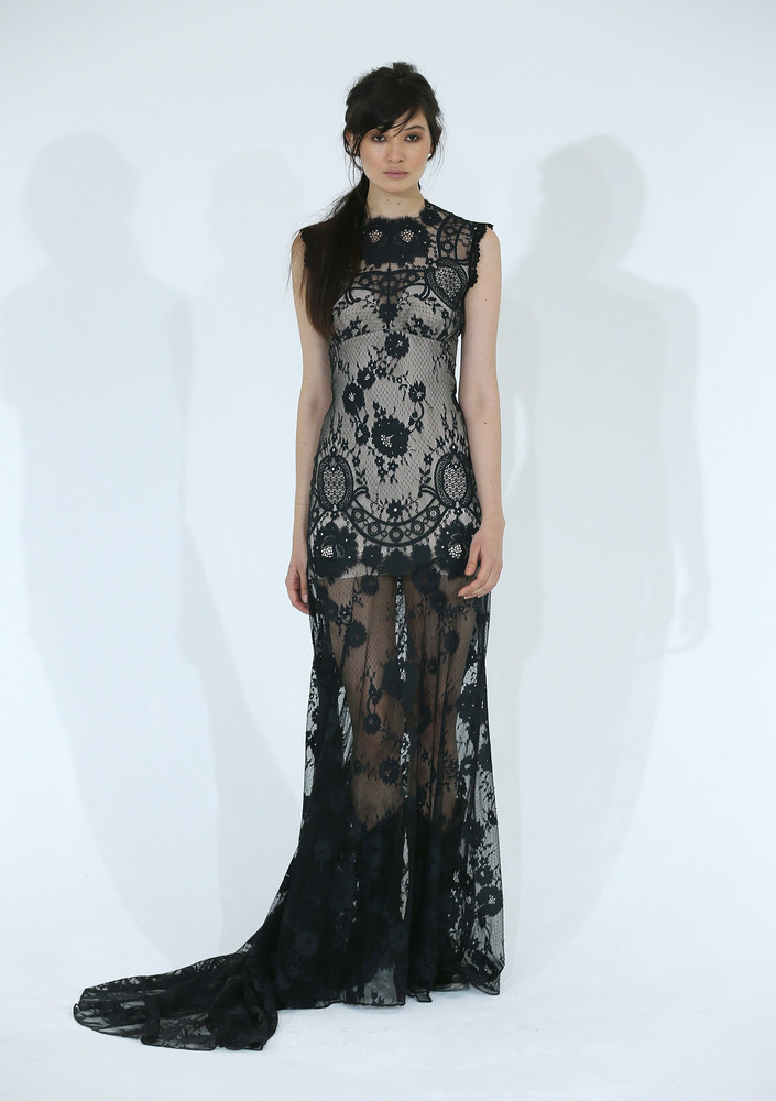 Modern black lace dress