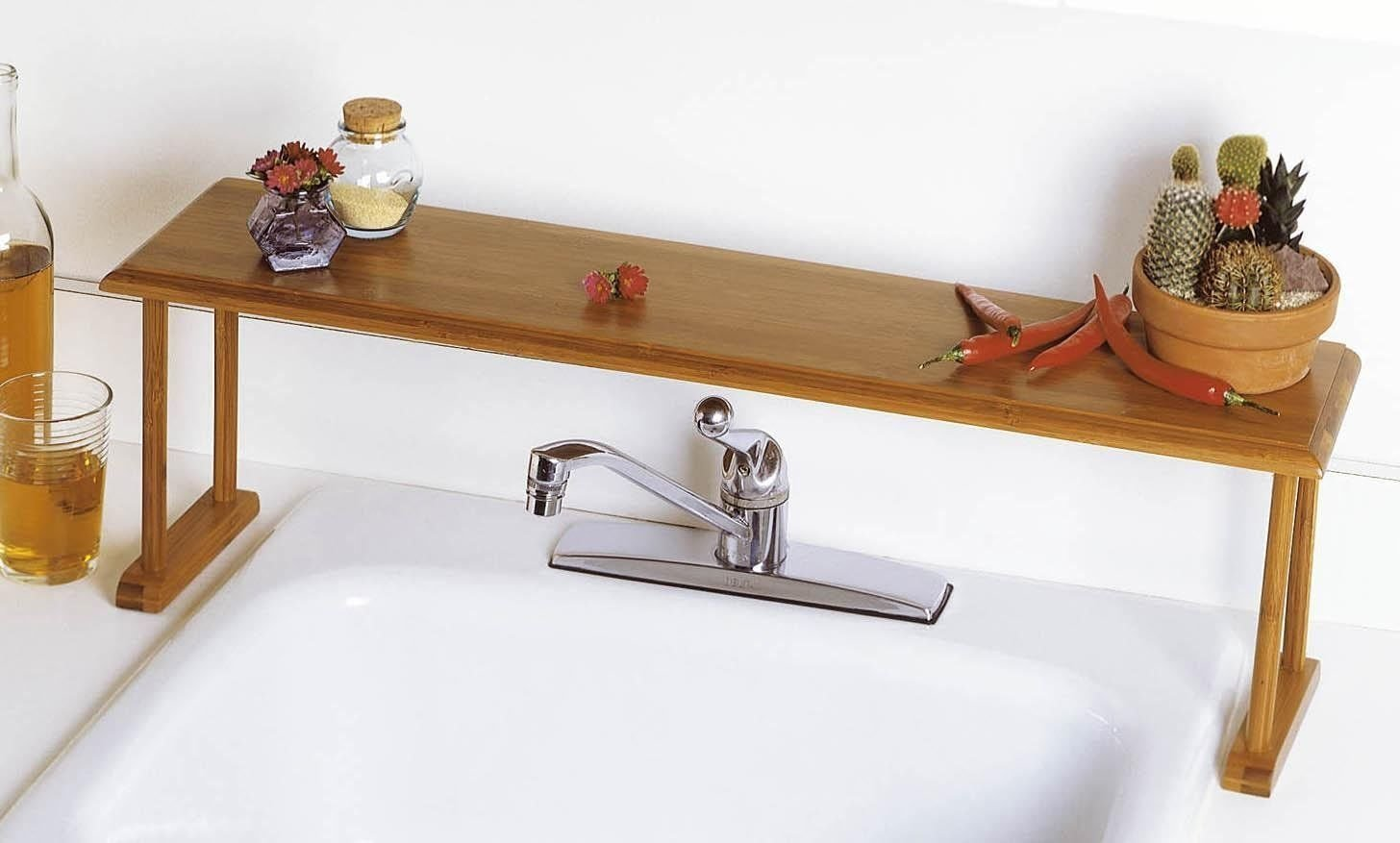 Over Sink Shelf Bathroom. Try Kitchen Products In The Bathroom! This Space  Saving ...