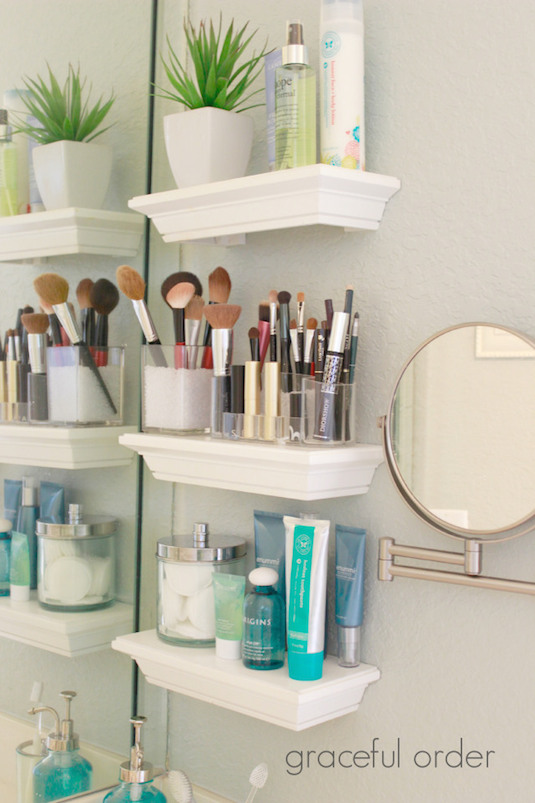 Picture frame ledge shelves bathroom