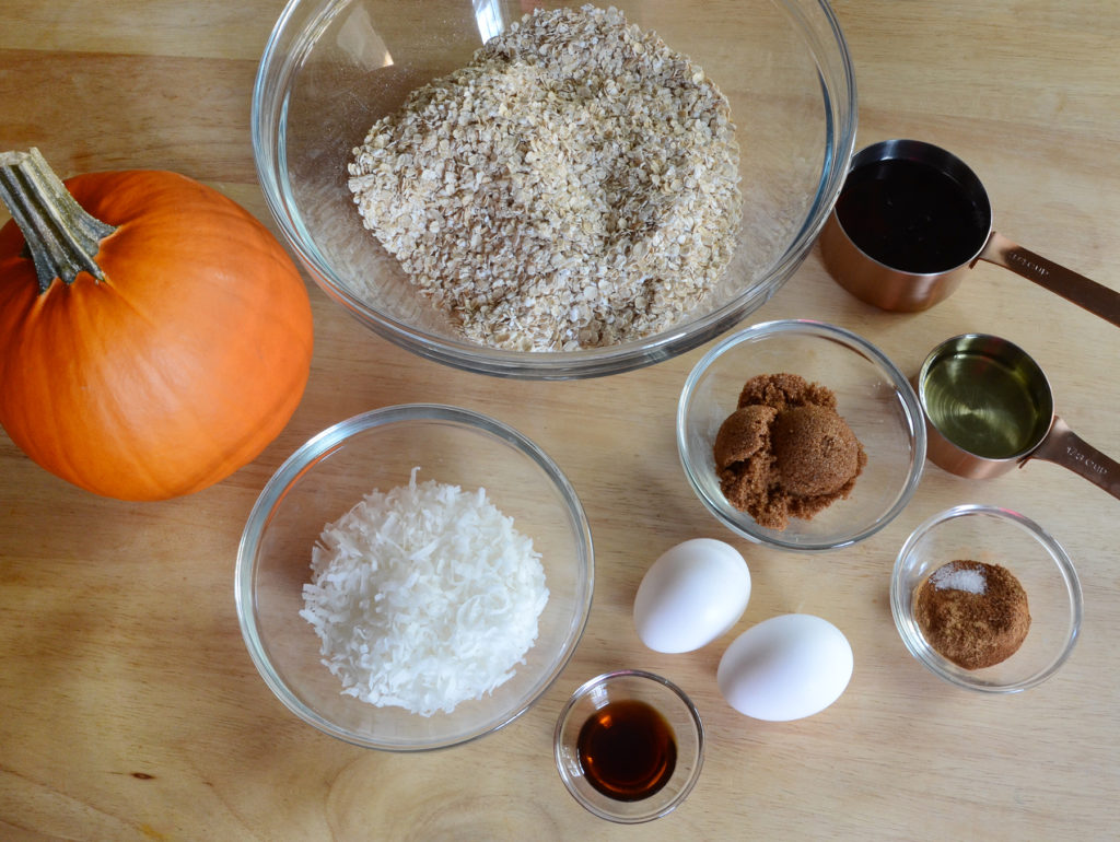 Pumpkin granola recipe ingredients