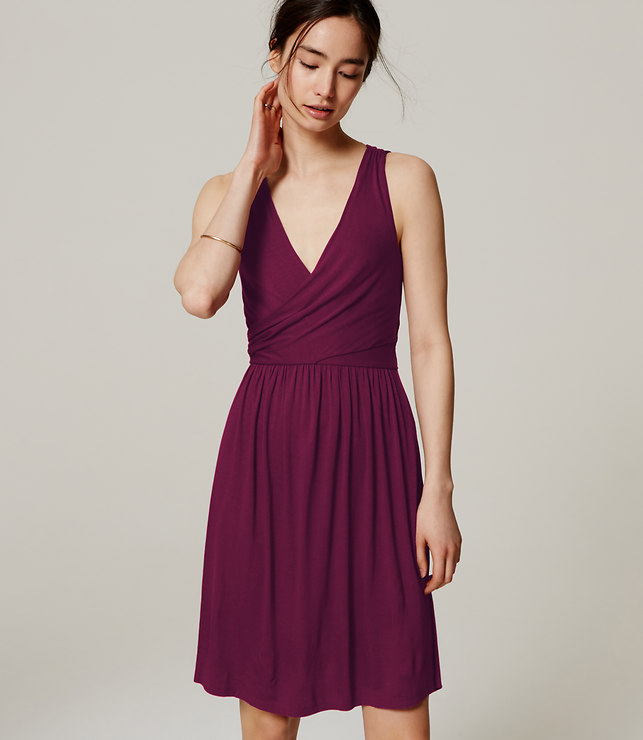 Purple double v dress loft