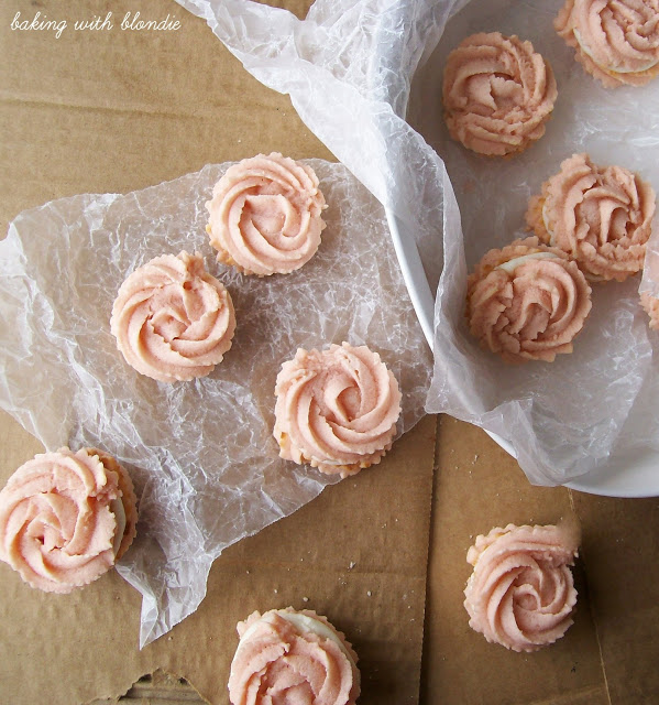 Raspberry rosette spritzer cookie recipe