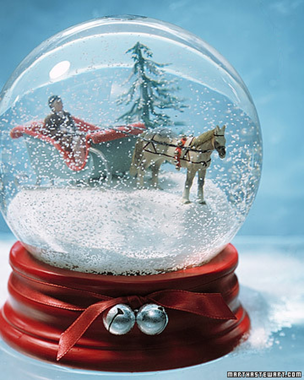 Sleigh ride diy snow globe