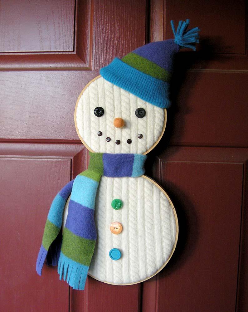 Snowman hoop diy
