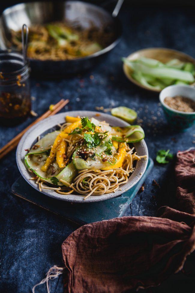 Soba noodle mango cucumber soy chili 06 650x975