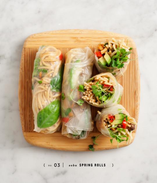 Soba noodle spring rolls