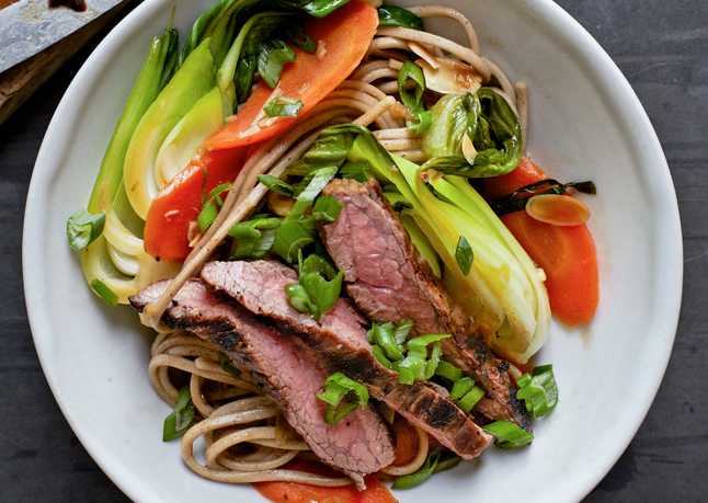 Steak and soba stir fry