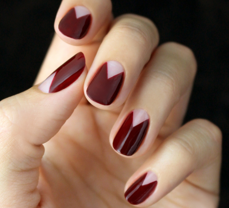 25 thanksgiving nail art ideas triangle red thanksgiving nail art solutioingenieria Images