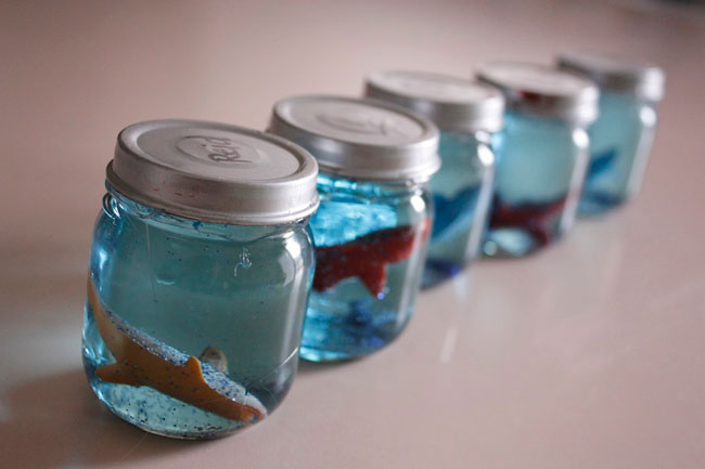 Under the sea favor snowglobe diy