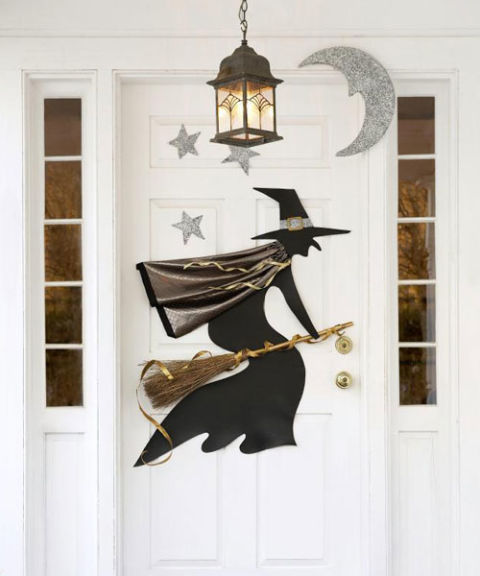 Witchy Halloween Door Decoration
