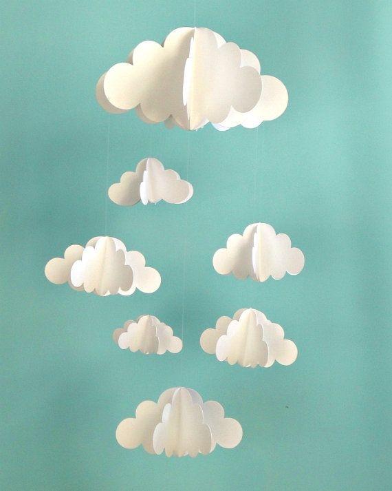 3d cloud hanging mobile