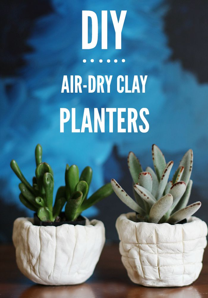 Air dry clay planters diy