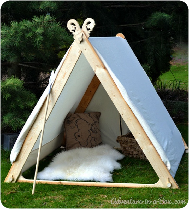 Backyard viking play tent