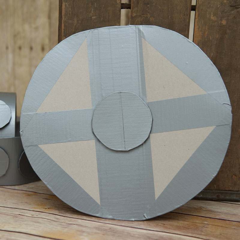 Cardboard viking shield