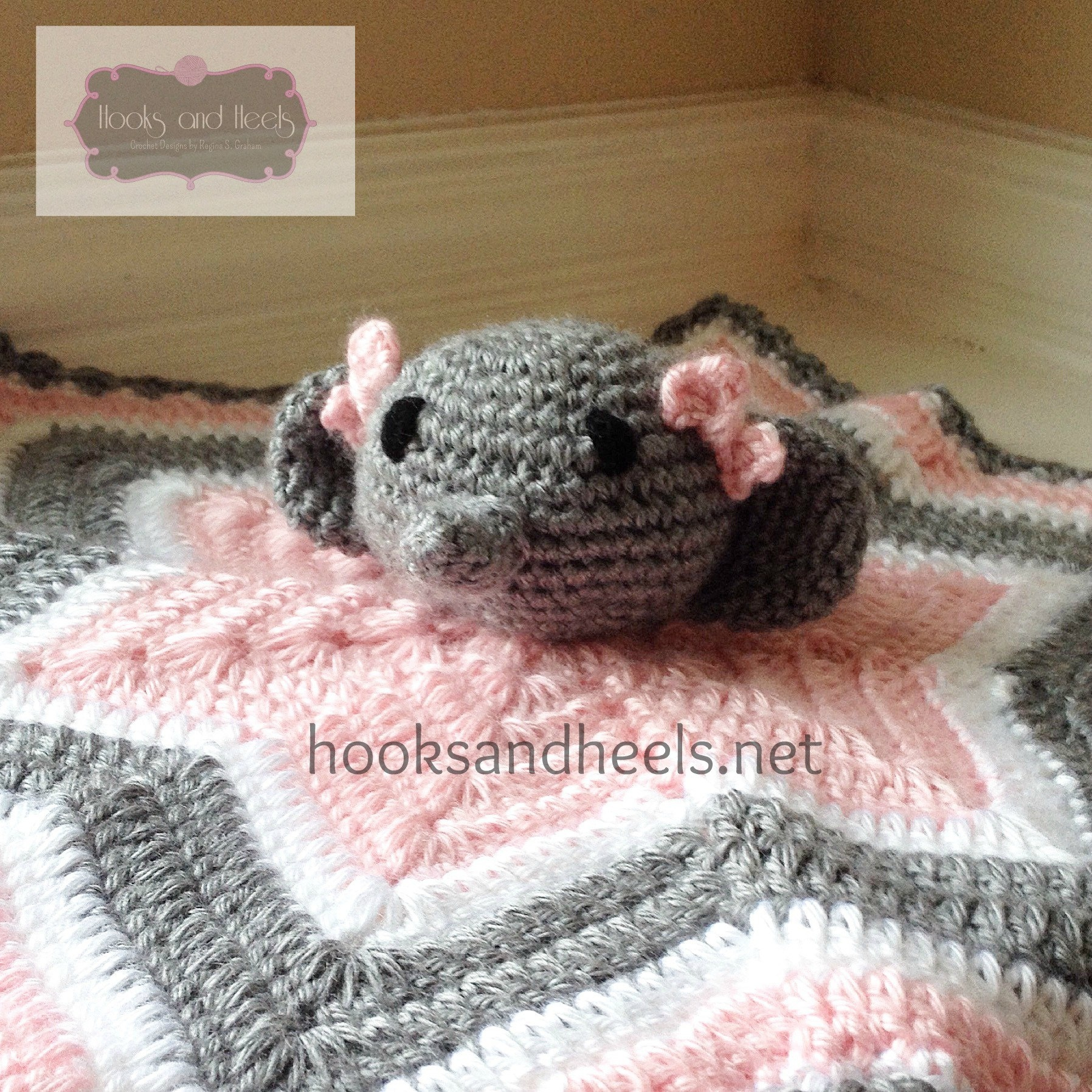 Chevron elephant lovey