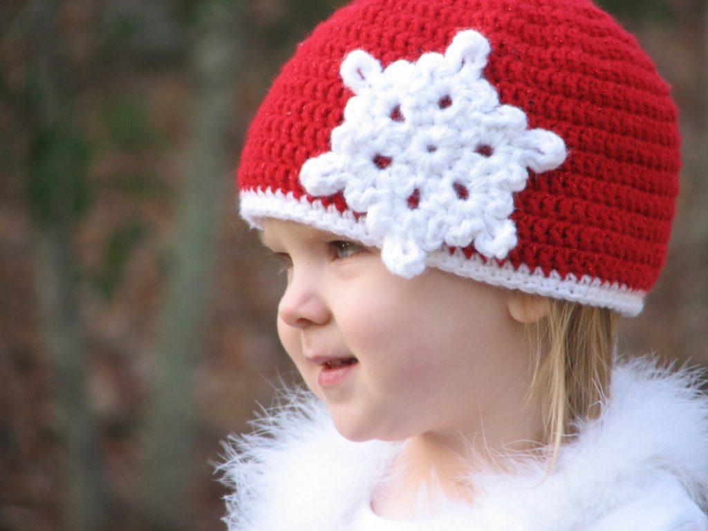 Christmas snowflake beanie