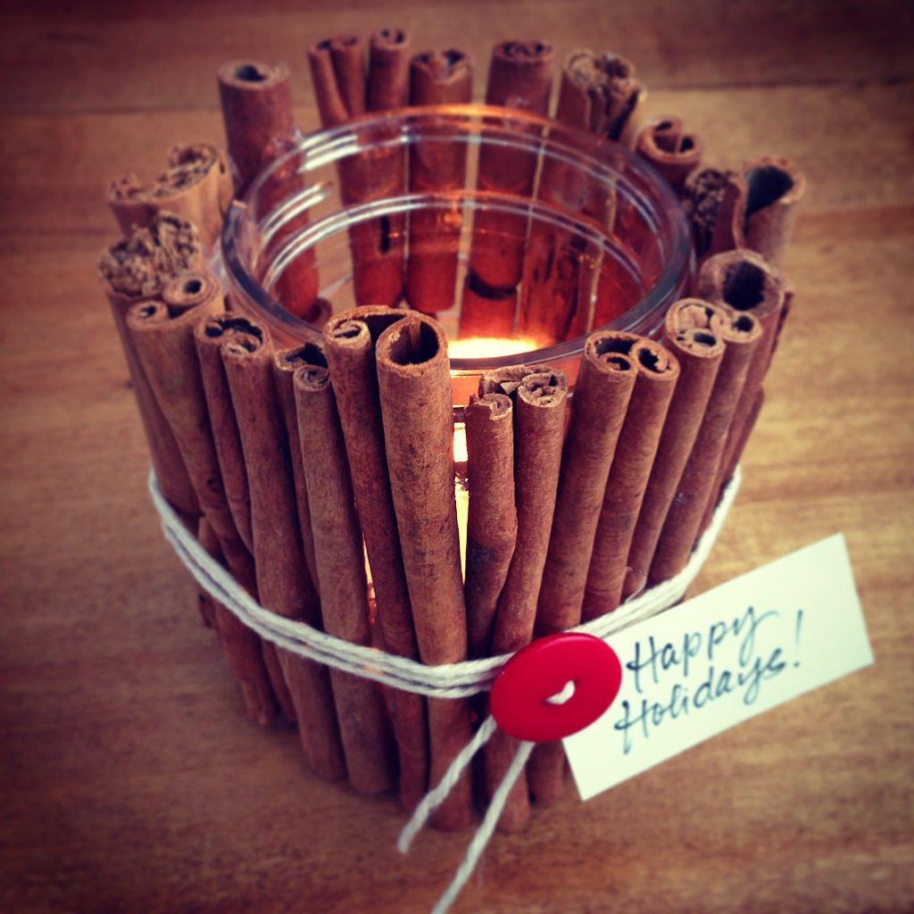 Cinnamon stick votive