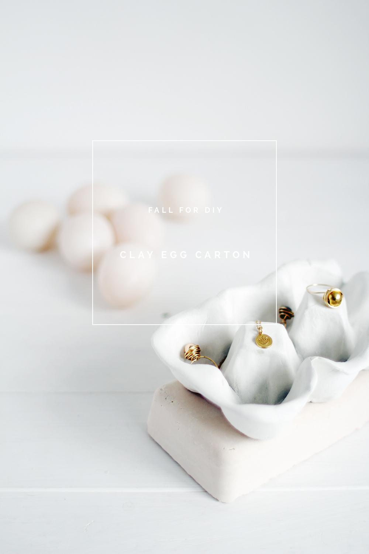 Clay egg box fall for diy