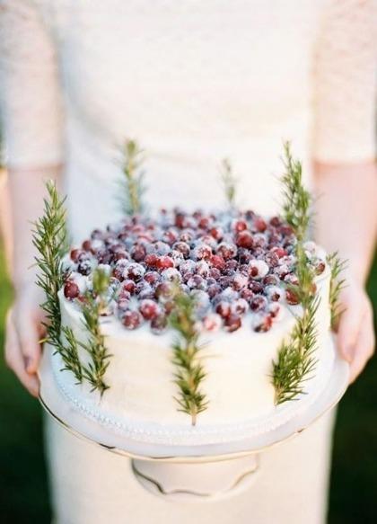 Cranberry diy cake
