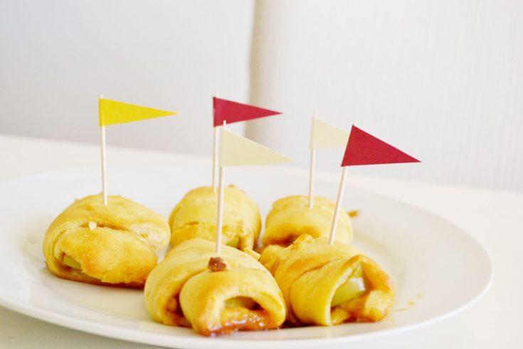 Crescent apple pie bites