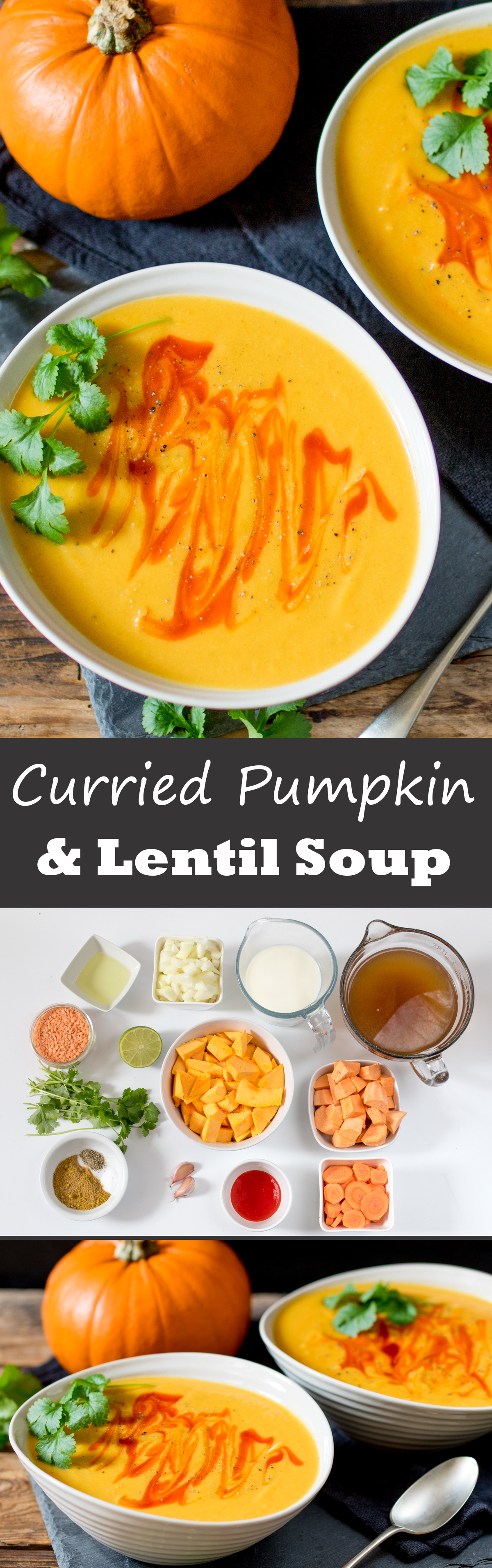 Curried pumpkin and lentil soup pinterest