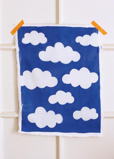 Custom cloud printed fabric
