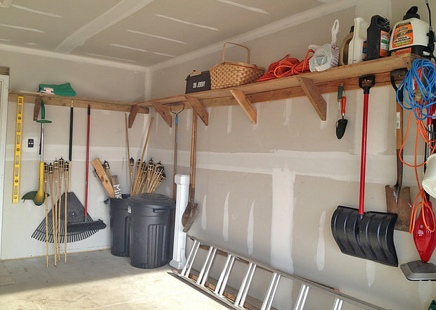 Diy garage storage on a budget