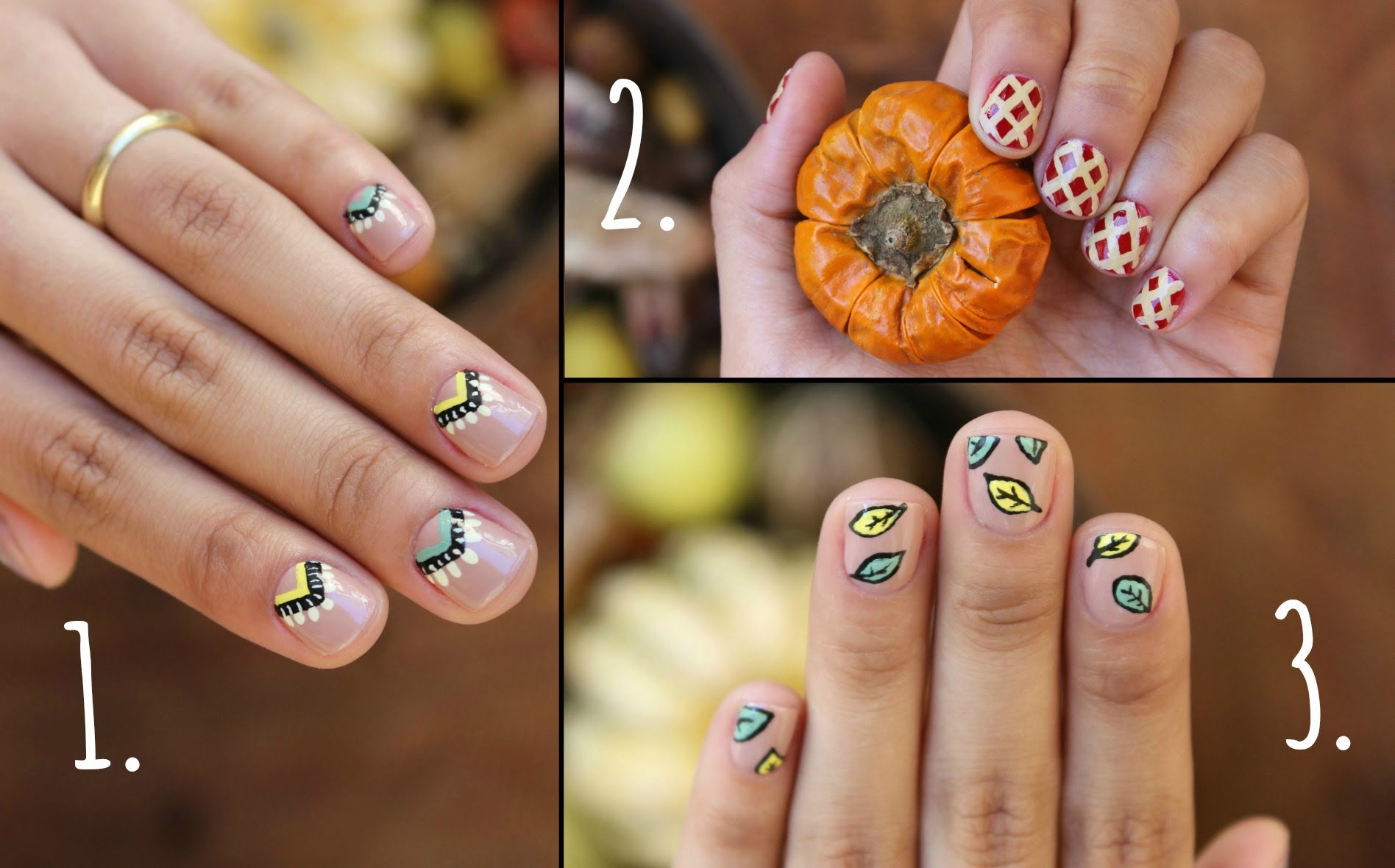 Diy thanksgiving nail ideas