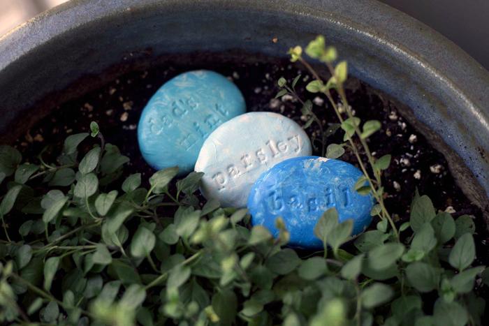 Diy clay garden stones
