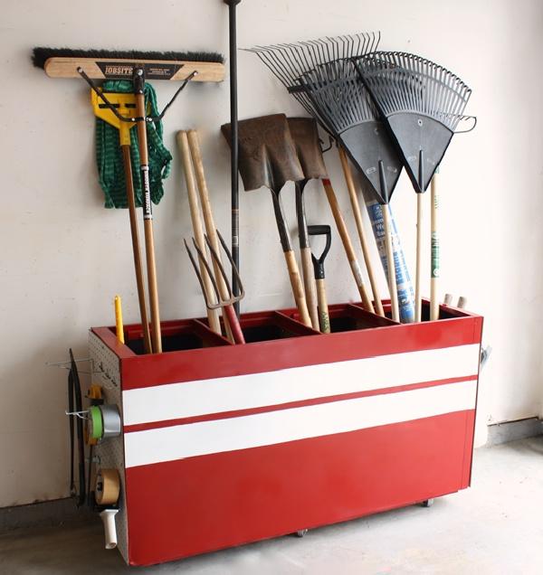 Diy filing cabinet garage bin