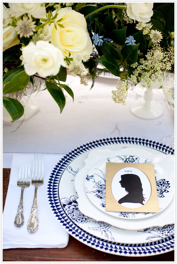 Diy silhouette place cards
