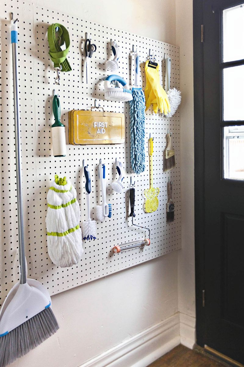 Diy pegboard wall