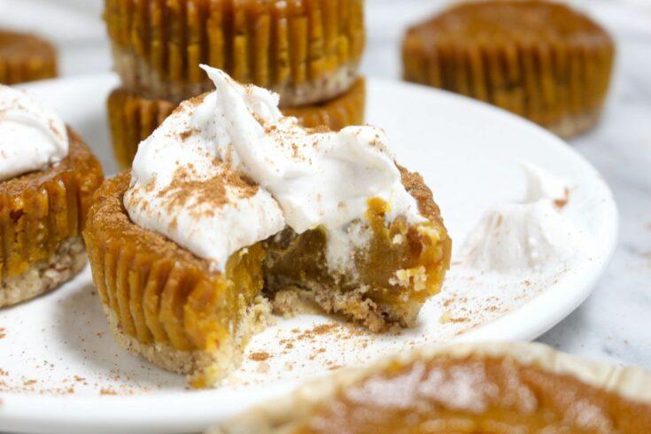 Delicious mini pumpkin pies