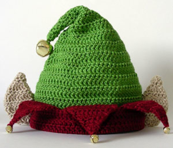 Elf hat with ears and bells
