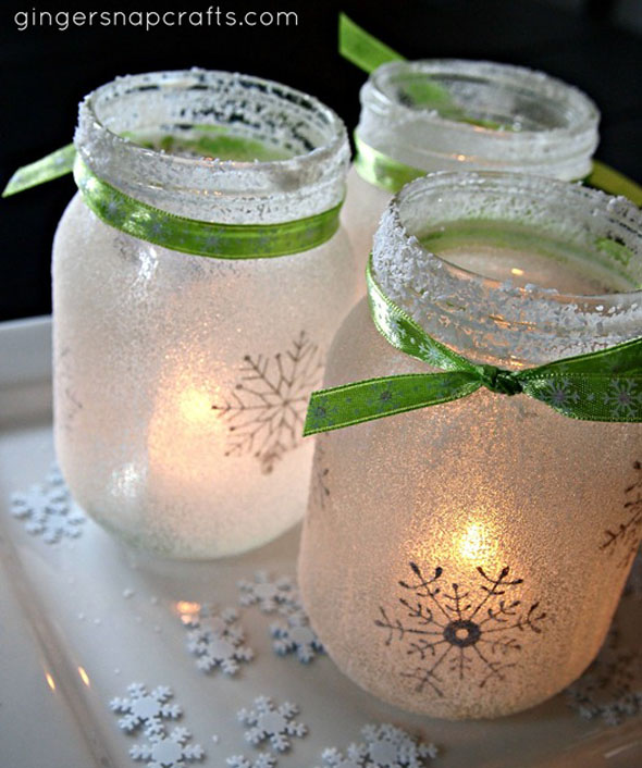 Epsom salt mason jar luminaries
