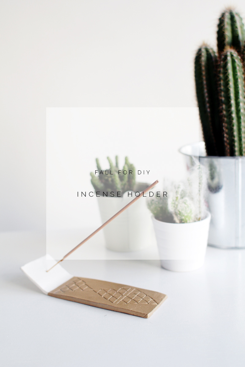 Fall for diy incense holder tutorial