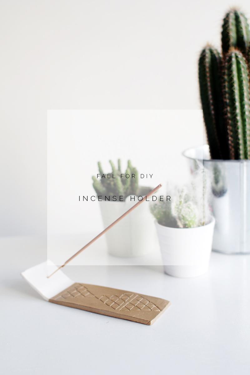 Fall for diy incense holder tutorial