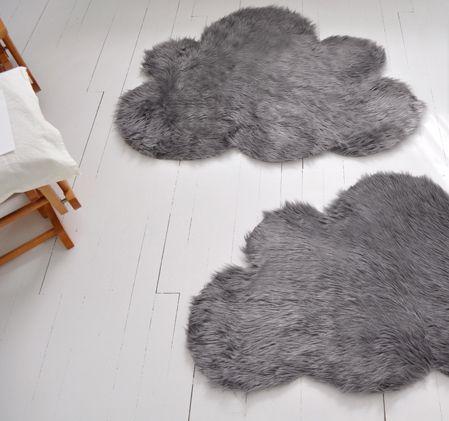Furry cloud mats