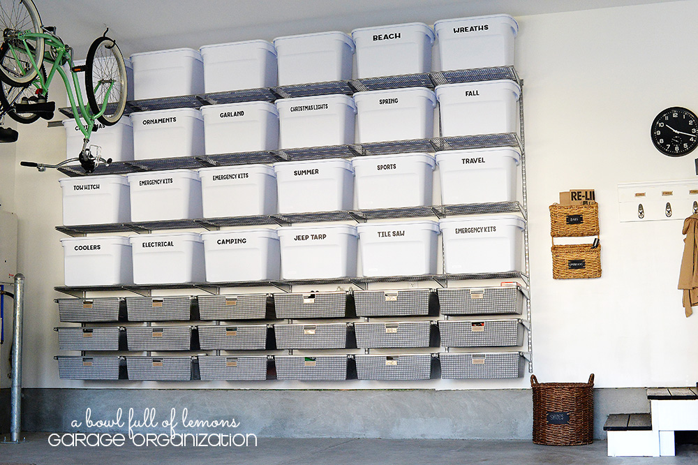 Garage bin organization diy