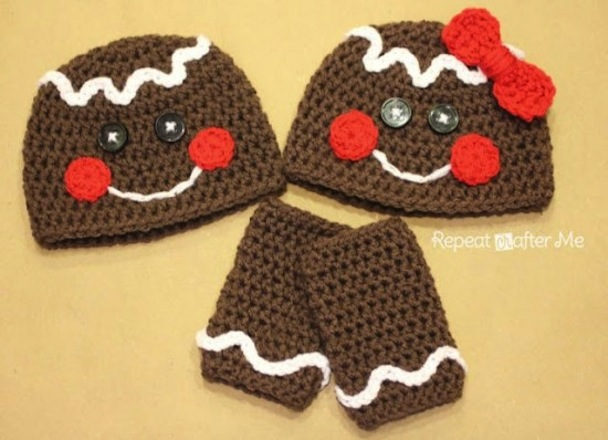Gingerbread person hats