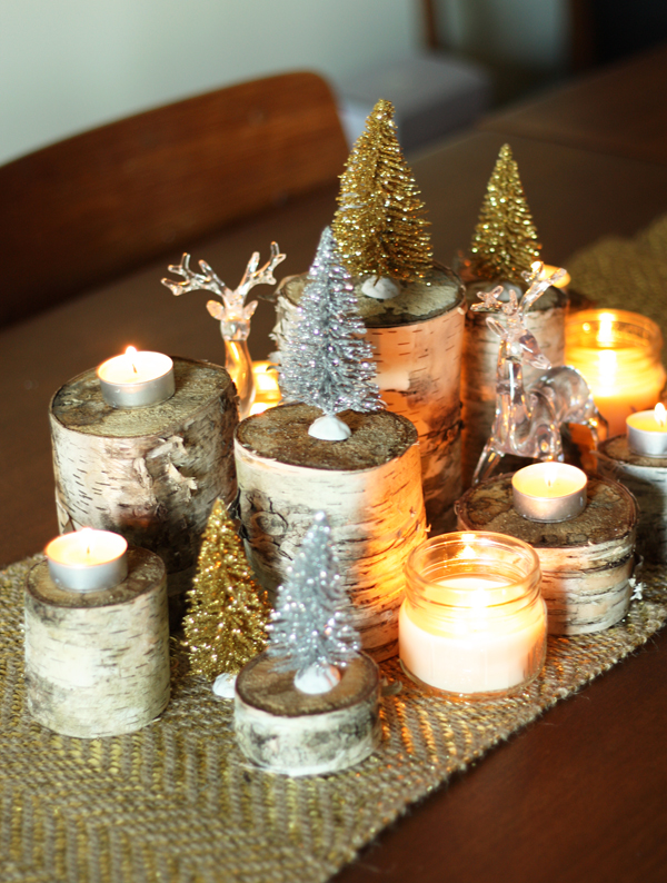 Glam holiday centerpiece diy