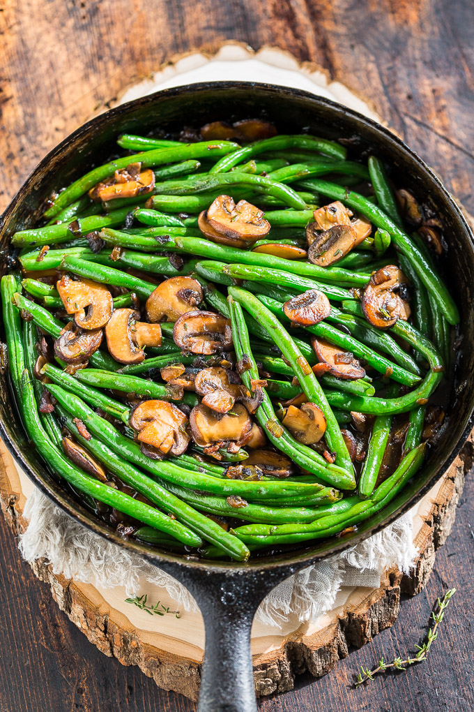 Green beans with bacon mushroom sauce get inspired everyday 5