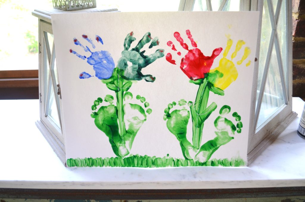 Hand and foot print flowers