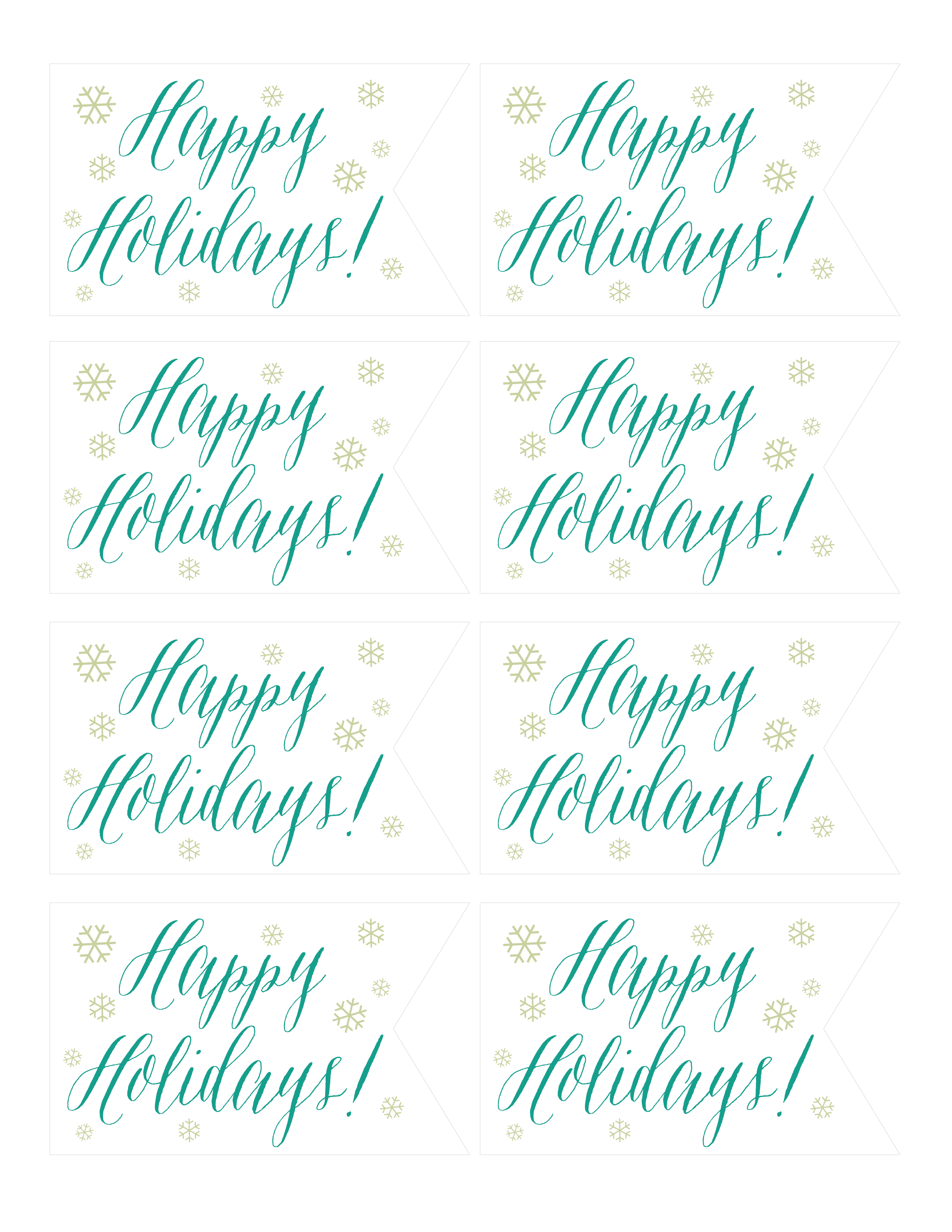 Happy holidays tags