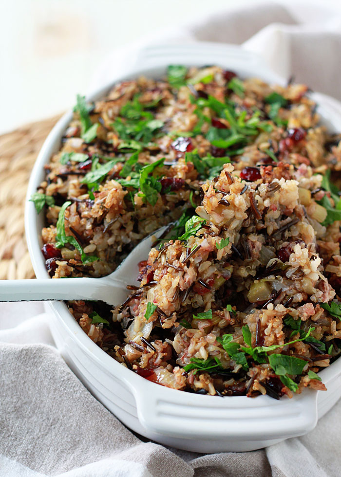 Herbed wild rice and quinoa stuffing4