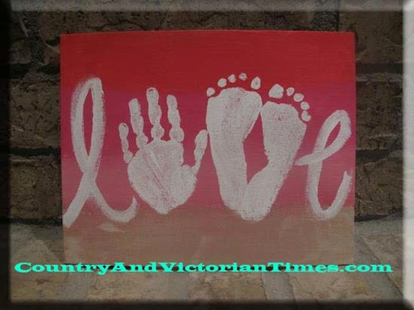 """love"" canvas"