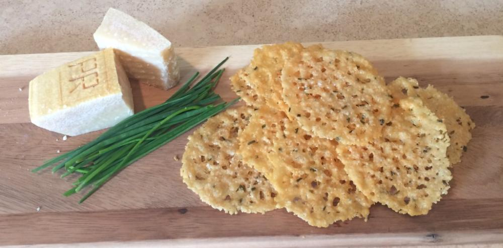 Parmesan and chive crisps easy thanksgiving appetizers