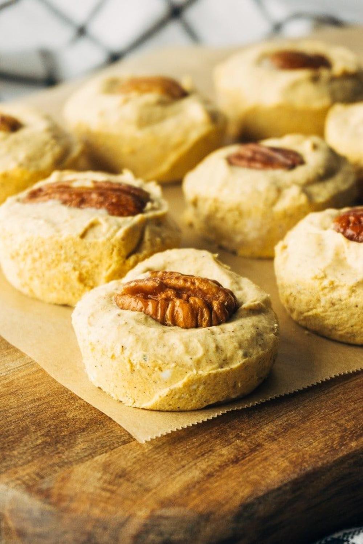 Pumpkin pie fat bombs thanksgiving finger foods