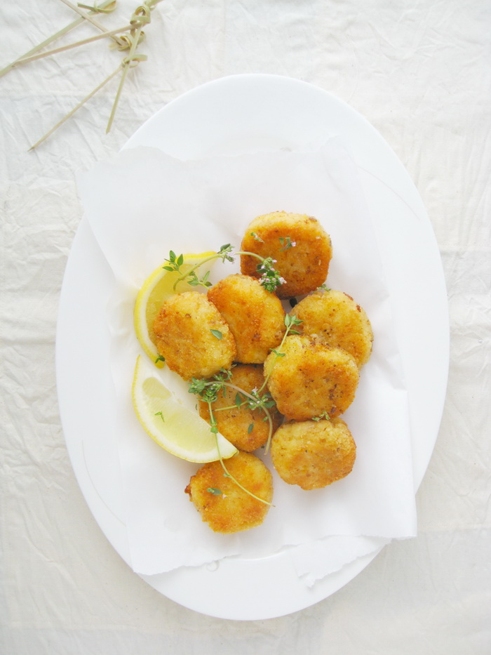 Pumpkin rice croquettes